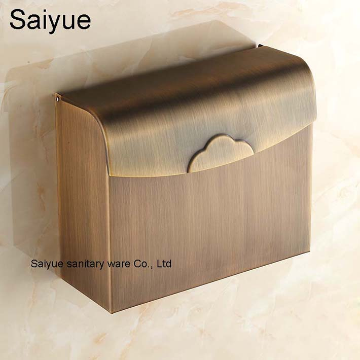 New Square Bathroom Accessories Antique Vintage Toilet Paper Holder Box WC Cover Roll Tissue Rack Shelf  porte papier toilette black of toilet paper all copper toilet tissue box antique toilet paper basket american top hand cartons
