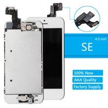 كامل الجمعية شاشة LCD لفون SE شاشة تعمل باللمس محول الأرقام لقطع غيار للشاشة SE فون كاملة زر المنزل