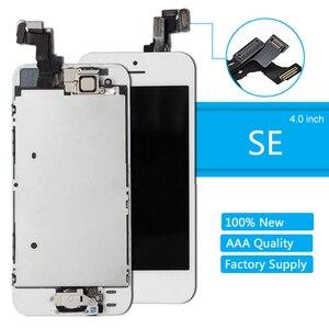 Image 1 - كامل الجمعية شاشة LCD لفون SE شاشة تعمل باللمس محول الأرقام لقطع غيار للشاشة SE فون كاملة زر المنزل