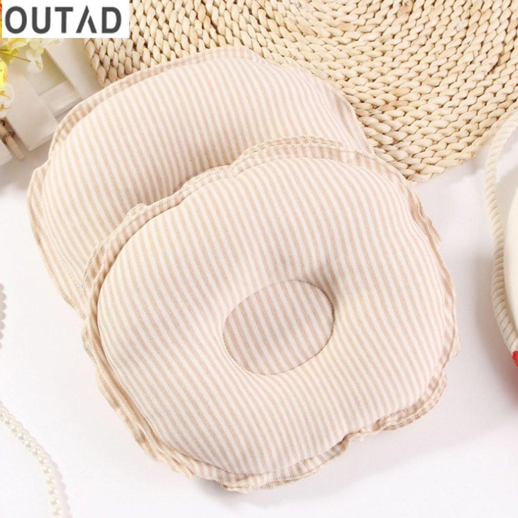 OUTAD Natural Organic Cotton Sleeping Pillow Newborn Infant Girls Boys Support Cushion Baby Soft Shape Pillow Prevent Flat Head