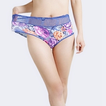 2018New Arrival women's briefs sexy lingeries Lace Flower hollow Plus Size 6XL Big size 12 Colors Cotton underwear women panties