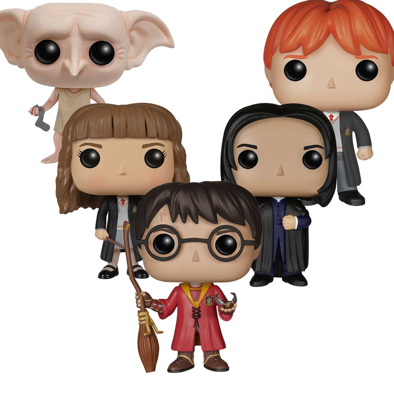 Harry Potter Action Figures Hermione Weasley Snap Dobby Vinyl Action & Toy Figures Children Toys harry potter ron weasley gregory goyle lucius malfoy argus narcissa professor sprout figures bricks toys for children kl9002