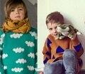 2017 primavera Inverno Kikikids bobo choses Nuvem Padrão Triângulo Queda Camisolas Jumper de Camisola Para Meninos Das Meninas Do Bebê crianças Roupas