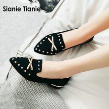 92a636530 Sianie Tianie 2018 outono primavera casual sapatos baixos para a mulher  lazer deslizar sobre as mulheres sapatos mocassins com .