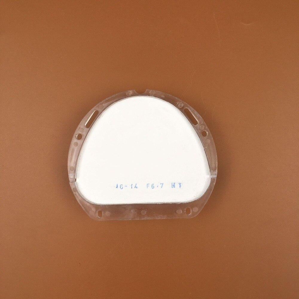 1 pièce de Super translucide Amann Girrbach système CAD/CAM dentaire zircone bloc céramique 89*71mm pour faire des dents avant en porcelaine