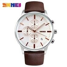 Relojes de Los Hombres de Primeras Marcas de Lujo SKMEI Nuevos hombres de la Moda Dial Grande Del Reloj de Cuarzo Del Diseñador Hombre Reloj relogio masculino relojes