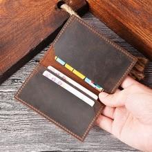 SIKU кожаный мужской Чехол-кошелек ручной работы с держателем для удостоверения личности держатель для карт