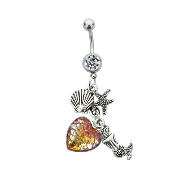 Модные хрустальные кольца на пуговицах для живота богемные хирургические