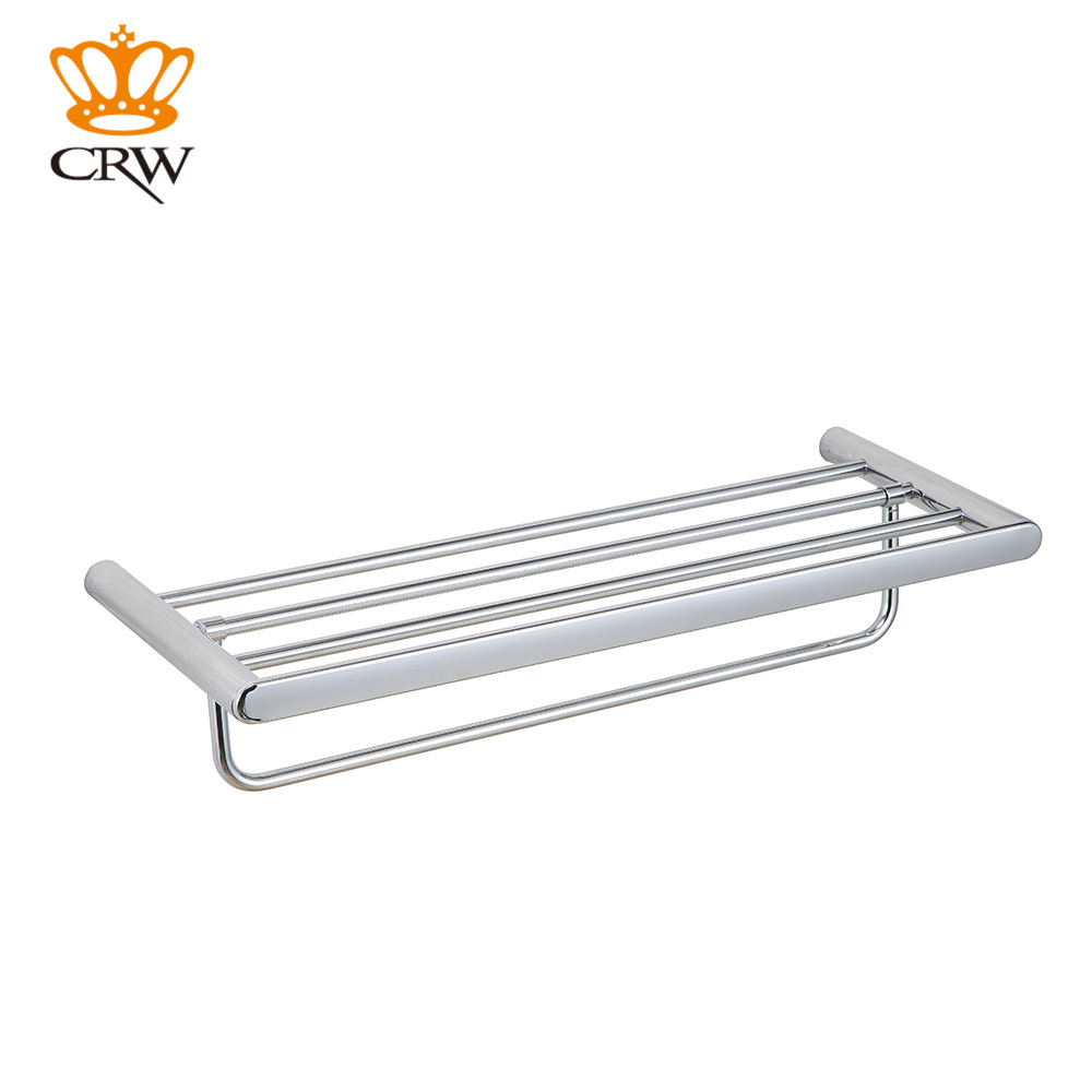 CRW Bathroom Towel Rack Shower Caddy Copper Wall Mount Space Rack Moveable  Towel Hanger Bar 2 Tier Bathroom Accessories In Bathroom Shelves From Home  ...