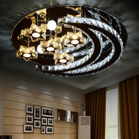 Modern LED Crystal Ceiling Lights Moon Star Light Ceiling Lamp Fixture luminaria Indoor Bedroom Lighting 90~260V WCL036