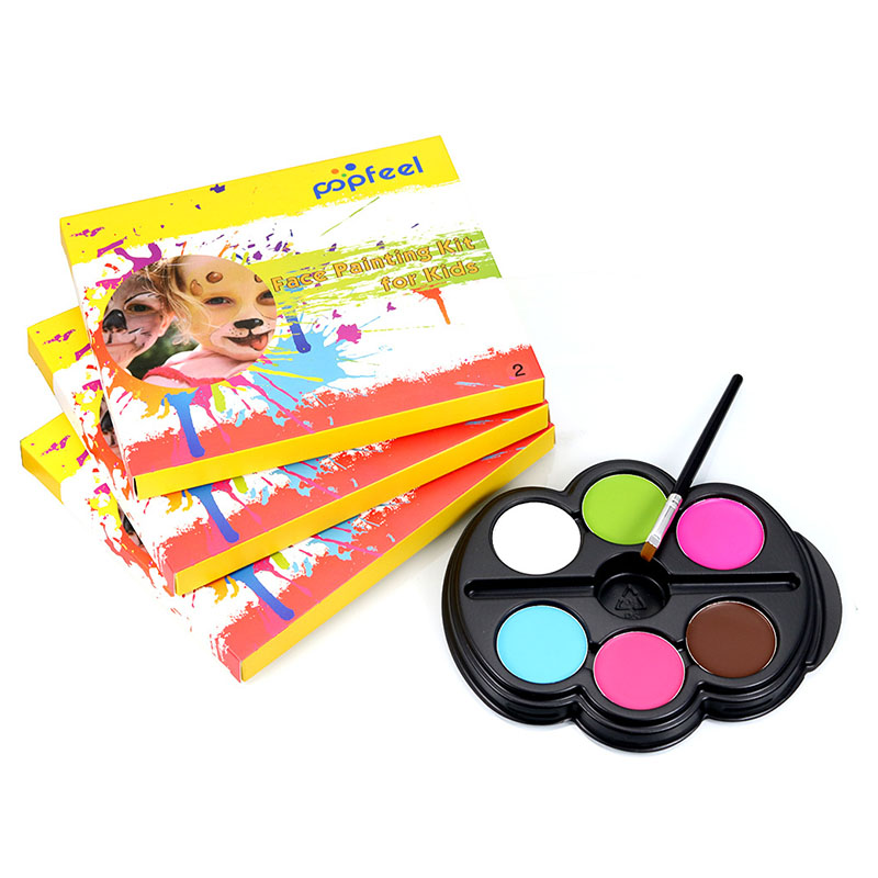 new brand Popfeel Colorful Child Face Body Paint Kit Eyeshadow Cream Concealer Contour Palette Base Foundation Corrective