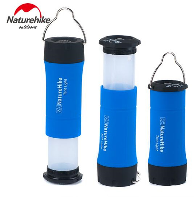 Naturehike Portable Outdoor Camping Light Flashlight 3 Colors Ultralight LED 3 Modes Emergency Tool Tent Lamp in Outdoor Tools from Sports Entertainment