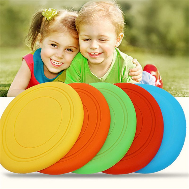 Childs Silicon Flying Disk Throw Catch Discs Color Outdoor Beach Sport Silica Gel Toy Sports