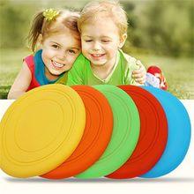 Детские Силиконовые летающие диски, цветные уличные пляжные спортивные силиконовые игрушки