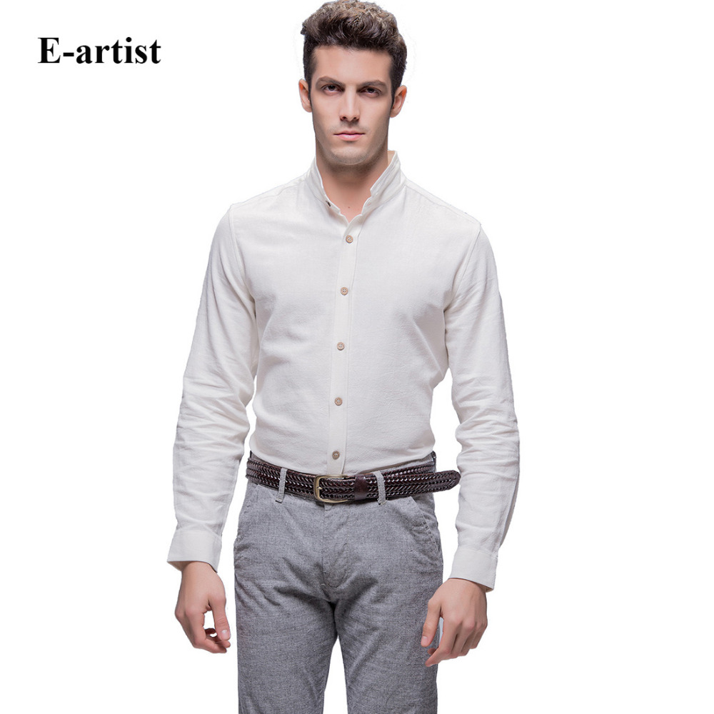 Compare Prices on Long Sleeve Linen Shirts for Men- Online ...