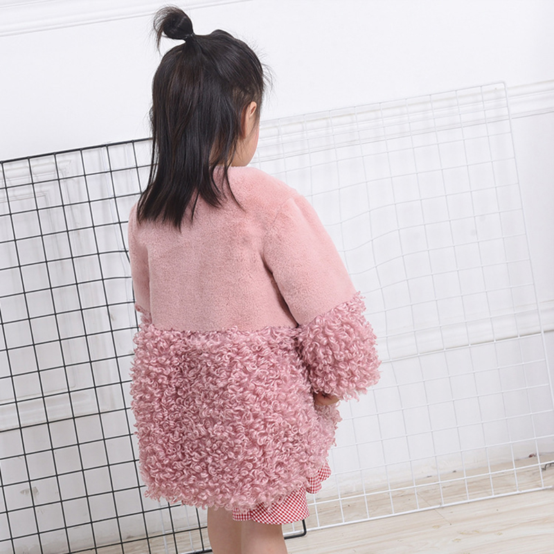 Autumn Winter Girls Faux Fur Coat Kids Warm Coats Children Fur Coat For Girls Jackets Princess Parkas Baby Girls Fur Coat new arrival plush coat children faux fur coat girls explosion thickened small children warm coat girls winter coat 4 8y page 3