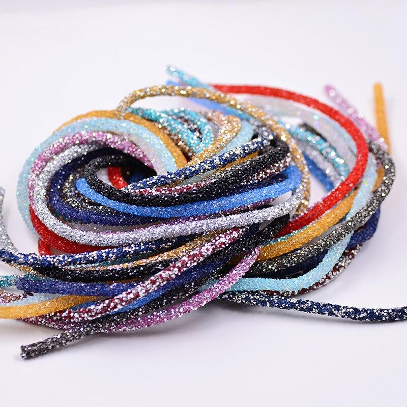 JUNAO 1 Meter Resin Tube Rhinestones Chain Trim Crystal Beads - Өнер, қолөнер және тігін - фото 5