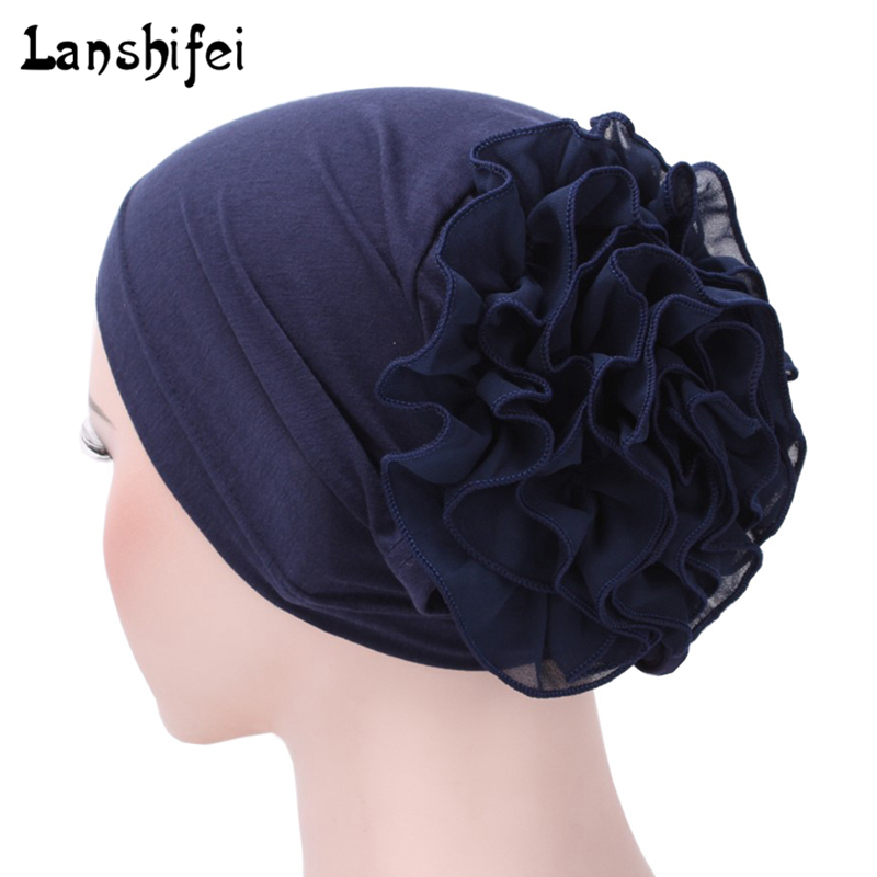 Traditional & Cultural Wear Women Floral Lace Turban Hat India Cap Muslim Hats Hairnet Chemo Cap Flower Bonnet Beanie Novelty & Special Use