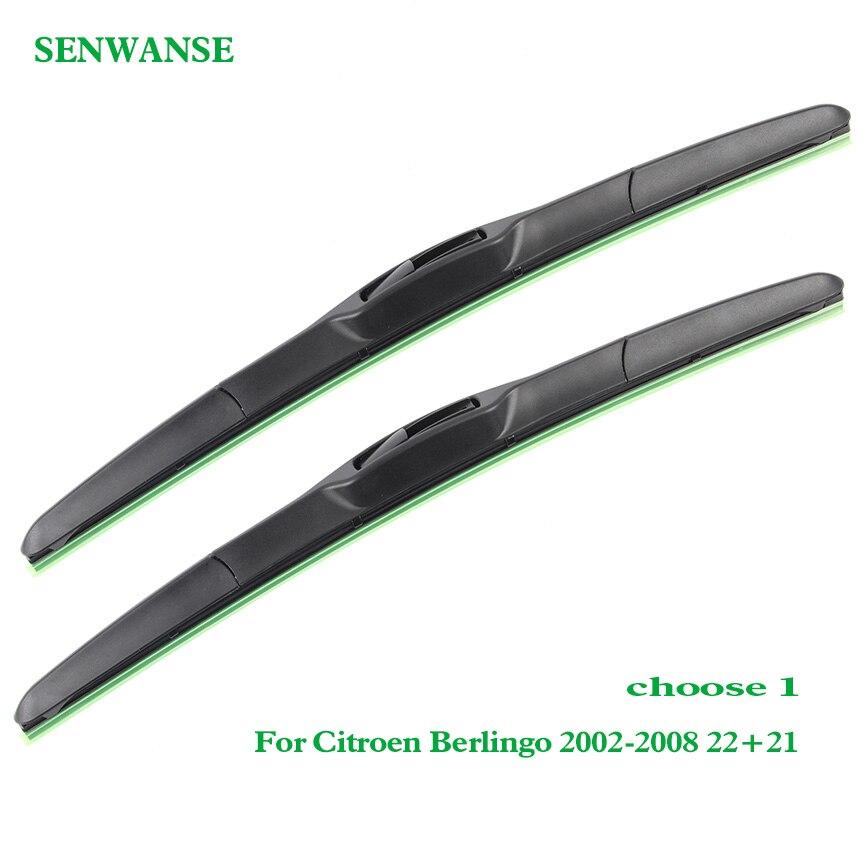 "Senwanse Windshield Wiper Blades For Citroen Berlingo 2002-2013 Pair 22"" Car Front Window Windscreen Wiper Auto Accessories"