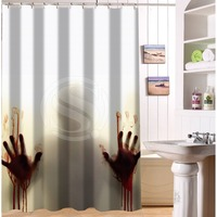 Hot Selling Polyester Bath Curtain Print The Walking Dead Horrible Picture Bathroom Shower Curtain Mildewproof Fabric