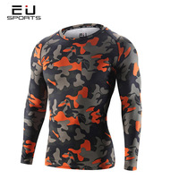 Men S Camo Compression Tights Running Fitness Shirt Long Sleeve Quick Dry Cycling Underwear Basketball Bodybuilding