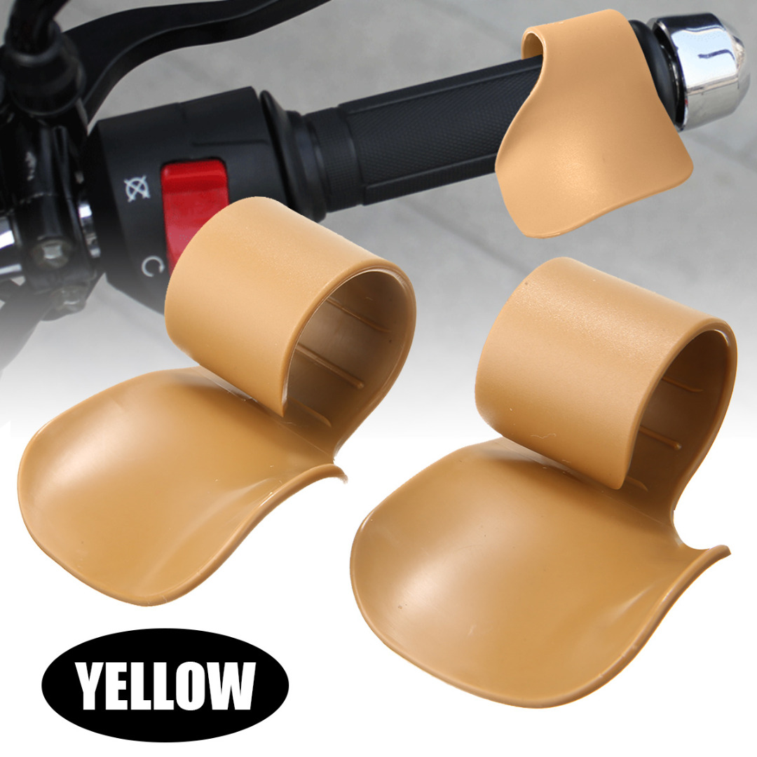 1Pair Motorcycle Full Throttle Assist Clip Grip High Quality Cruise Control Reduce Fingers Strain For E-Bike ATV Off-road