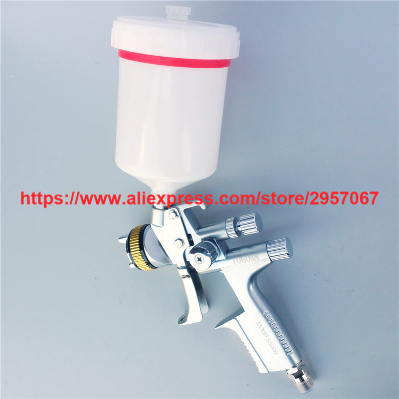 Jet 5000B LVMP Spray Gun with 1.3mm Graity Feed Nozzle Spray Car Paint Gun forged version jet 5000b hvlp jet gun gravity spray gun with 1 3mm nozzle 5000b rp 4000b rp pneumatic spray gun car spray gun