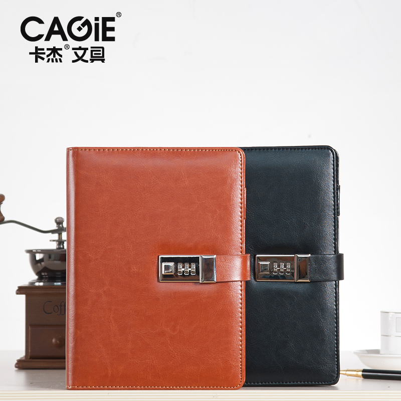 1pc Vintage Pu Leather Office File Folder Padfolio Men Password Lock Business Meeting Document Bag Folders Padfolios