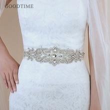 אופנה קריסטל חתונה חגורות אבנט הכלה חגורת כלה Sashes חגורות עם Rhinestones אביזרי חתונה לנשים שמלה