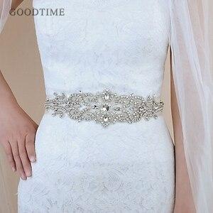 Image 1 - Thời trang Cưới Pha Lê Thắt Lưng Sash Cô Dâu Dây Thắt Lưng Thắt Lưng Cô Dâu Đai Với Thạch Wedding Phụ Kiện cho Phụ Nữ Ăn Mặc