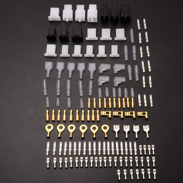 144pcs brass pvc bullet connectors wiring loom automotive harness auto  terminal repair tools kit