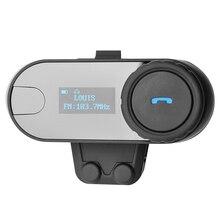 Pantalla LCD! con la Función De FM! 800 M 3 Jinetes BT de La Motocicleta del Intercomunicador Intercomunicador Del Casco de Auriculares Bluetooth Inalámbrico de Altavoces Hi-Fi.