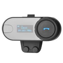 Écran LCD! avec FM Fonction! 800 M 3 Coureurs Salut-fi Haut-Parleur Moto Interphone BT Bluetooth Sans Fil Interphone Casque Casque.