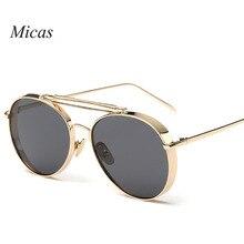 2016 Fashion Round Metal Frame Brand Designer Sunglasses versae for men women Summer Style Sun Glasses Oculos De Sol UV400