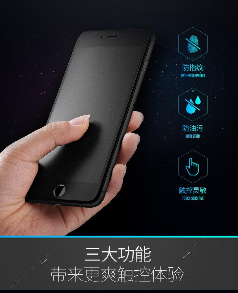 9H 2.5D matowy matowy pełna pokrywa szkło hartowane Screen Protector dla iPhone X XS MAX XR 10 8 7 6s 6 Plus 7Plus anty odciski palców 2