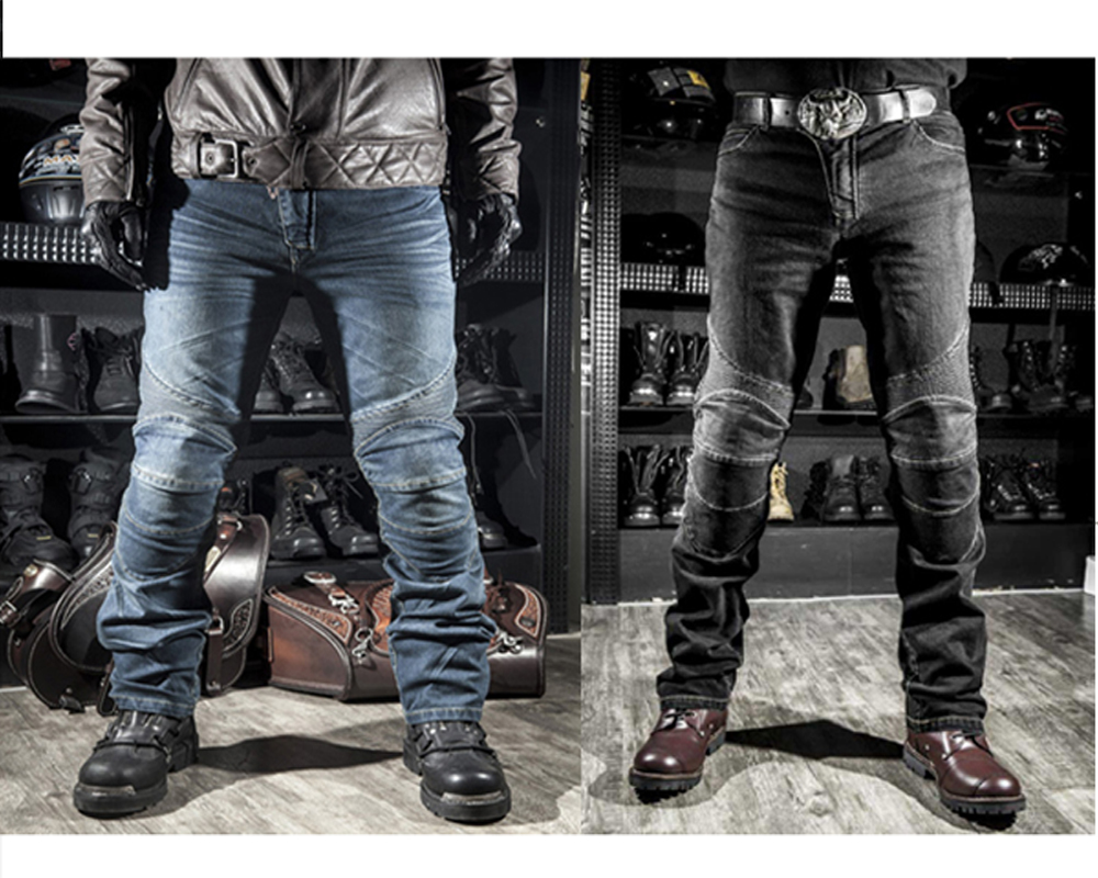 Men Motorcyle Pants KMT Downhill Motocross Pants for Motorcycle Moto Jeans with Knee Pad ...