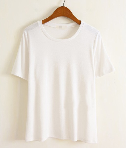 Aliexpress.com : Buy Women oversized basic T shirt crew neck tee ...