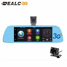 Dealcoo 7 pulgadas de navegador gps del coche del androide 5.0 con espejo dvr dvr Bluetooth Incorporado 16 GB Quad core Actualizaciones Gratuitas de Mapas de navegación por satélite