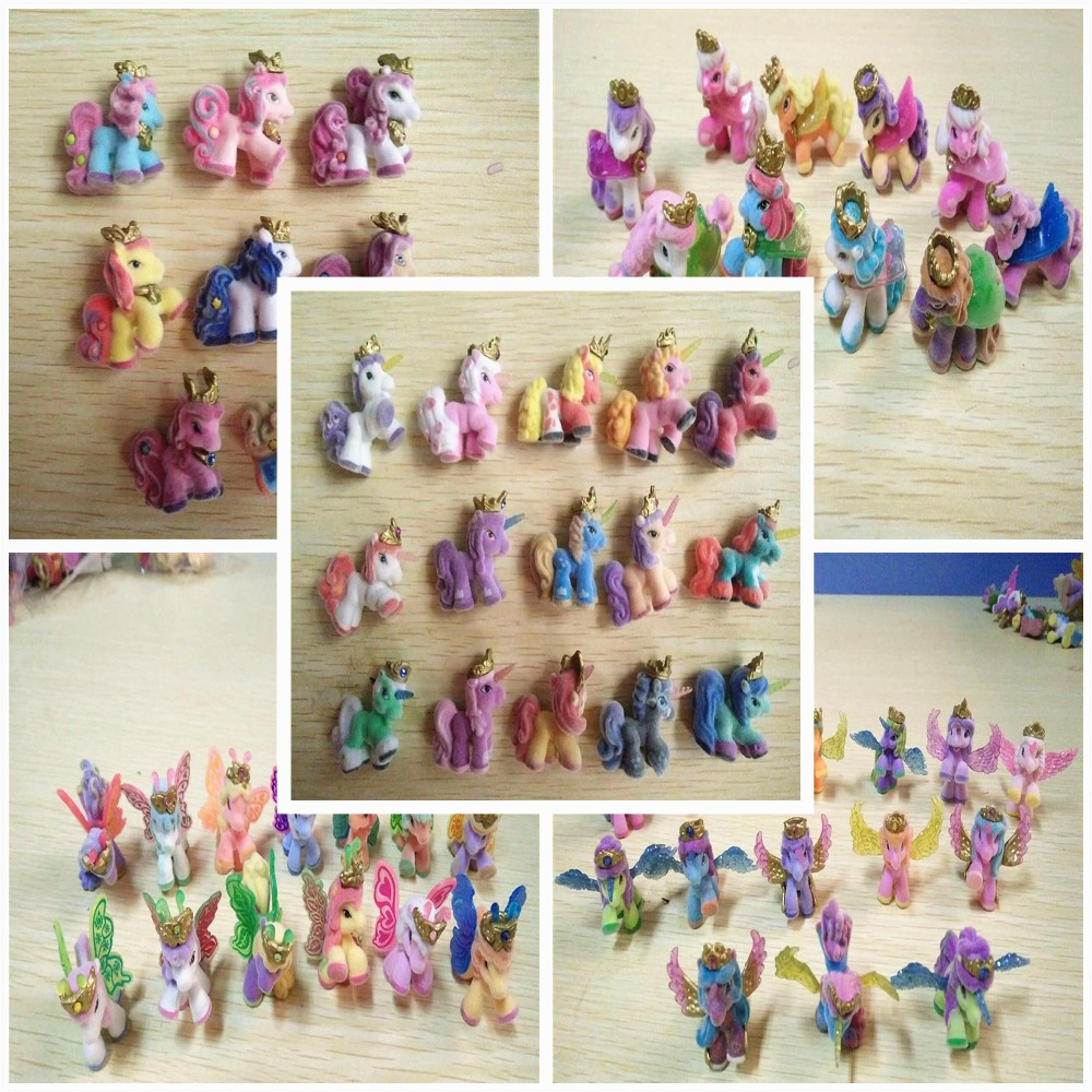 5Pcs/lot 3cm Baby Horse Dolls Cute Filly Little Horse Toys Butterfly Witchy Stars Unicorn etc. Mini Horses Kids Christmas Gift brialdi page bl brialdi