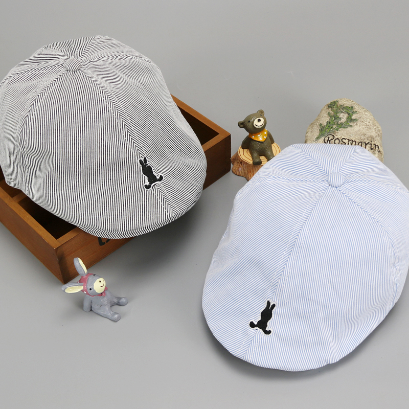 Men's Newsboy Caps Sweet-Tempered Plaid Summer Children Berets Kids Cartoon Whale Newsboy Hat Baby Boy Girl Flat Cap Duckbill Visor Casquette Peaked Bone