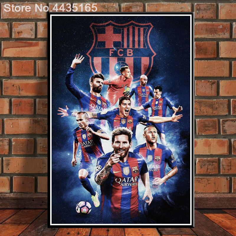 42x60 FX1279 Hot Lionel Messi Super Soccer Super Star