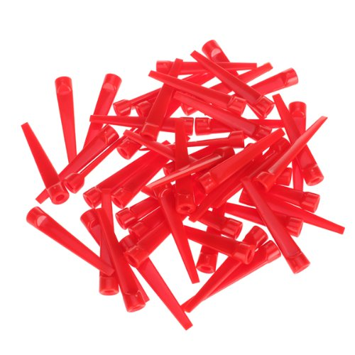 ELOS-50pcs Plastic Golf Tee Tees (Red)