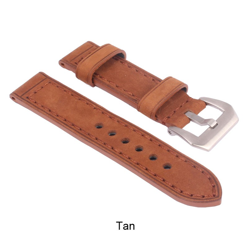 ZLLB06Y_D_Leather_Watchband_Tan_Silver Buckle