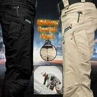 IX7 City Tactical Cargo Pants Men Combat SWAT Army Military Pants Cotton Many Pockets Stretch Flexible Man IX7 Military Uniforms