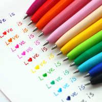12 unids/pack Gel bolígrafo Coreano de papelería Multi Color lápiz de Gel de 12 colores Set para adultos libros de colorear pintura de dibujo por escrito