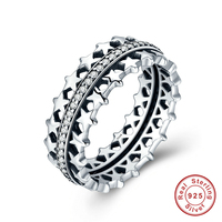 Authentic 925 Sterling Silver Star Trail Statement Ring For Women Engagement S925 Silver Exaggerate Jewelry Mood