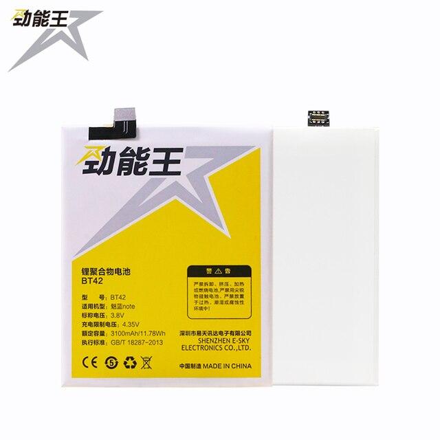 2017 JEW JLW High Quality 3100mAh Phone Battery BT42 For Meizu M1 Note Batterie Bateria Accumulator AKKU