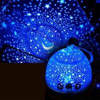 KIDS Night Light Star/Fish Projector Lamp Wireless Remote USB Nightlight Children 3D Atmosphere Portable Lamp Chritmas gift