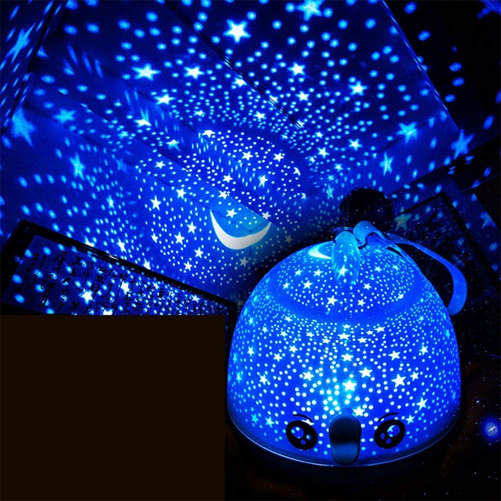 KIDS Night Light Star/Fish Projector Lamp Wireless Remote USB Nightlight Children 3D Atmosphere Portable Lamp Chritmas gift