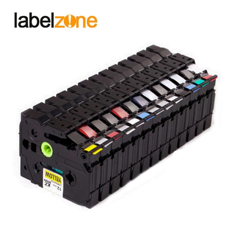 30 цветов Tze лента для маркировки совместимый Brother p-touch принтеры Tze231 Tze-231 12 мм для Brother P Touch tze Этикетировочная машина pt tz231 Tze 231 title=